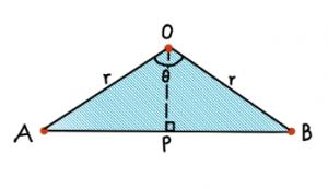 Triangle AOB