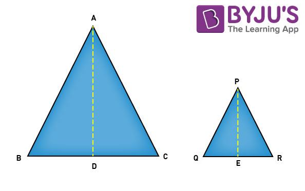 Theorems on area of similar triangles