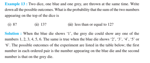 Probability For Class 10