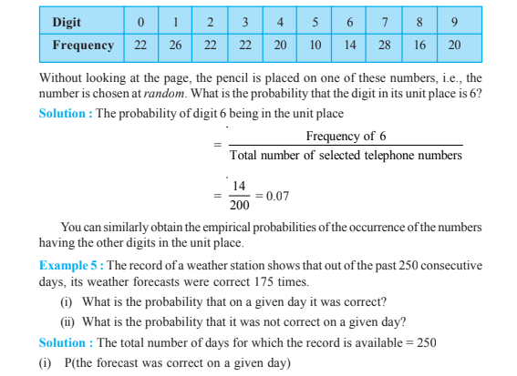 Probability Class 9