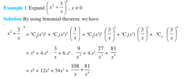 Binomial Theorem Class 11