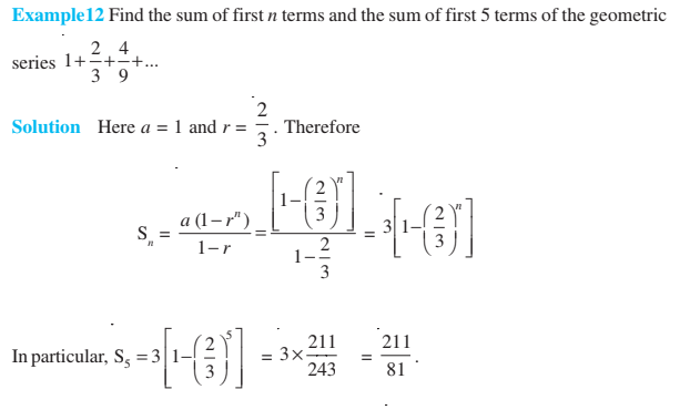 Sequences and Series Class 11