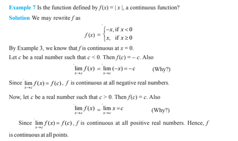 Continuity And Differentiability For Class 12