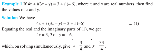 Complex Numbers Class 11