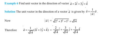 Vector Algebra For Class 12