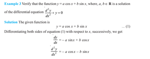 Differential Equations For Class 12