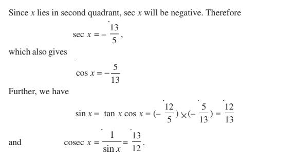 Trigonometric Functions Class 11