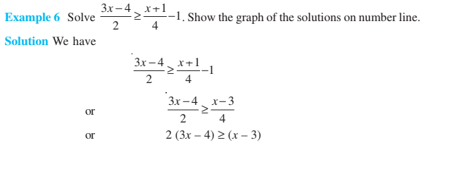Linear Inequalities Class 11