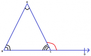 Exterior Angle Property of a Triangle