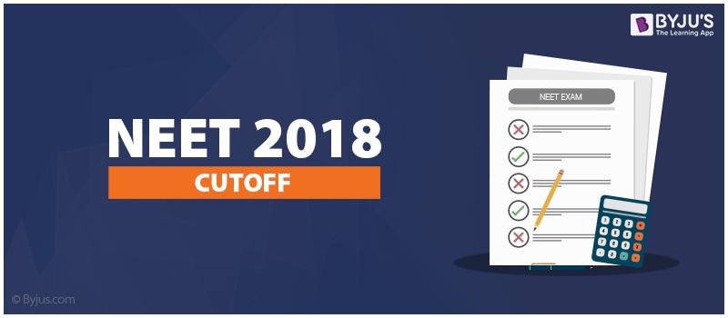 NEET Cut off 2018