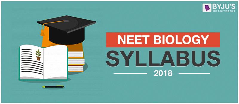 NEET Biology Syllabus 2018