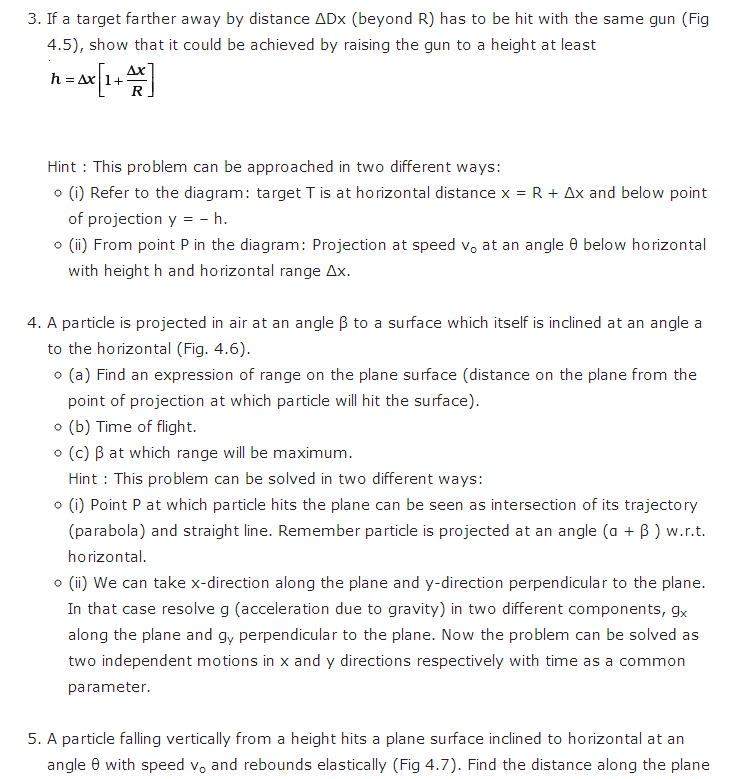 Important questions for class 11 physics chapter 3 motion in a plane important questions class 11 physics chapter 3 motion plane 5 ccuart Images