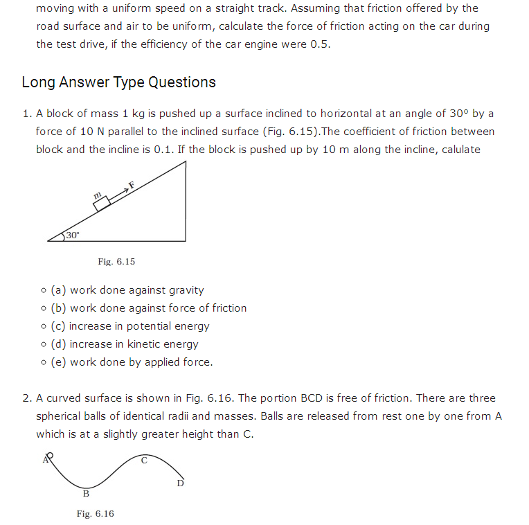important questions class 11 physics chapter 5 work energy power 5