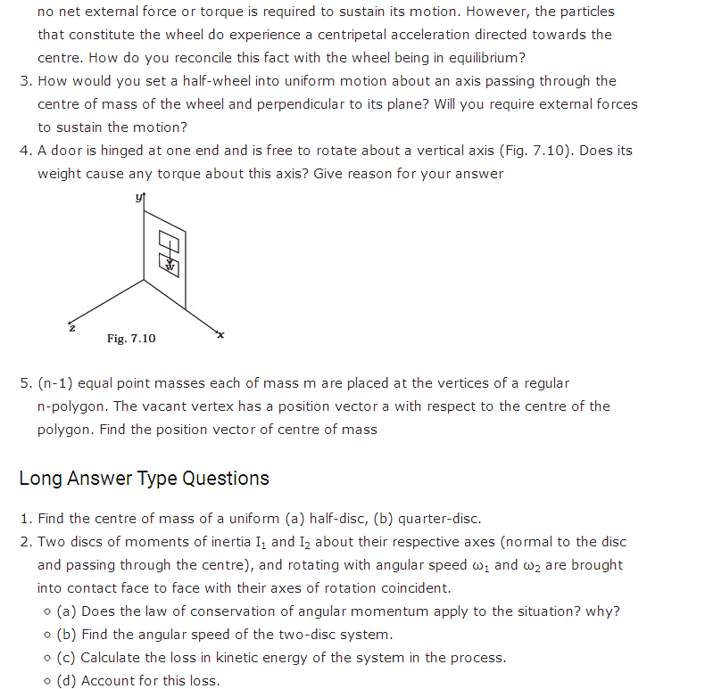 important questions class 11 physics chapter 6 system particles rotational motion 3
