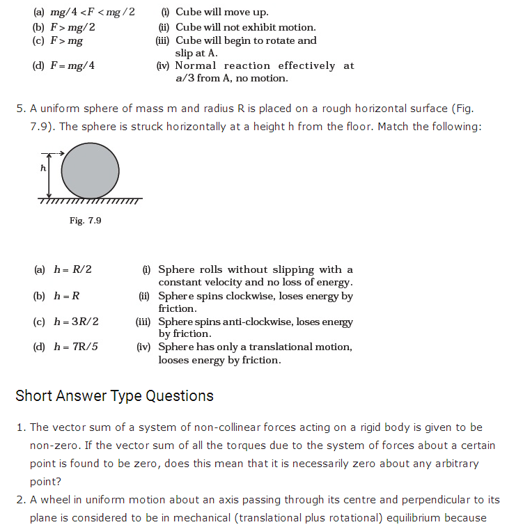 important questions class 11 physics chapter 6 system particles rotational motion 2