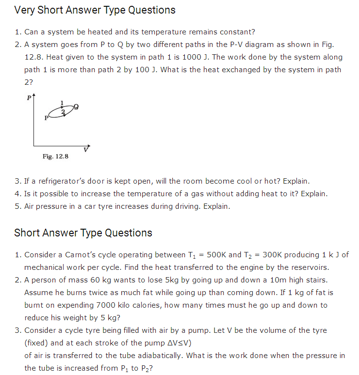 important questions class 11 physics chapter 11 thermodynamics 1