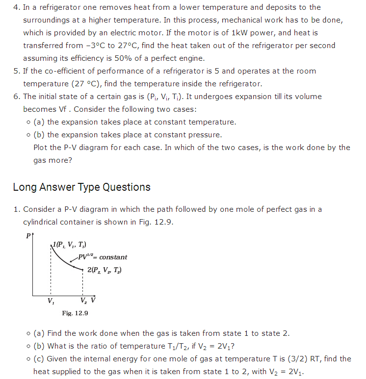 important questions class 11 physics chapter 11 thermodynamics 2