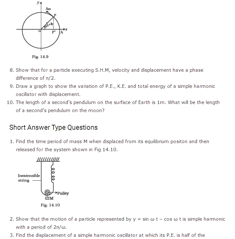 important questions class 11 physics chapter 13 oscillations 2