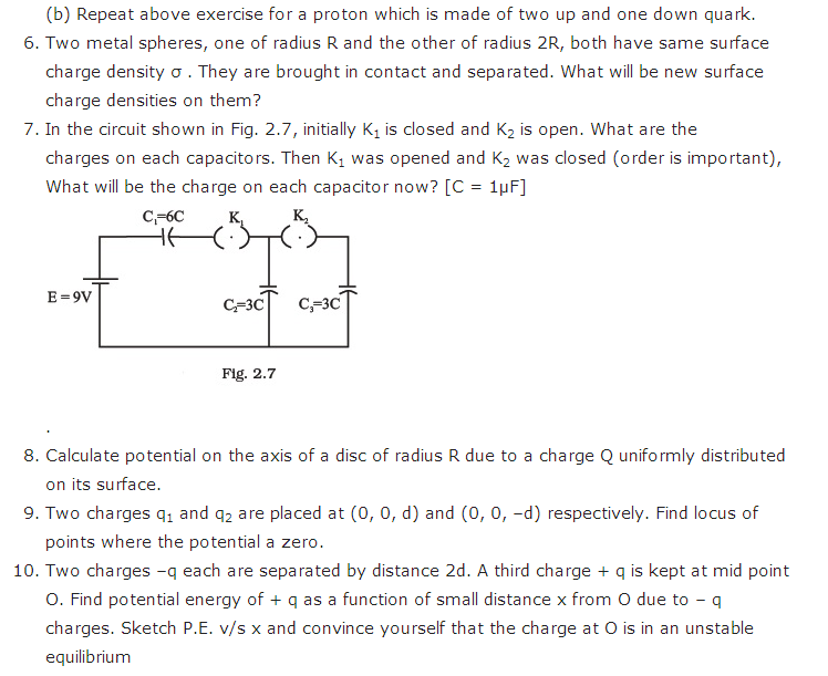 important questions class 12 physics chapter 2 electrostatic potential capacitance 3