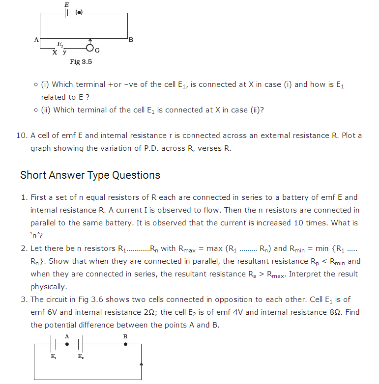 important questions class 12 physics chapter 3 current electricity 2