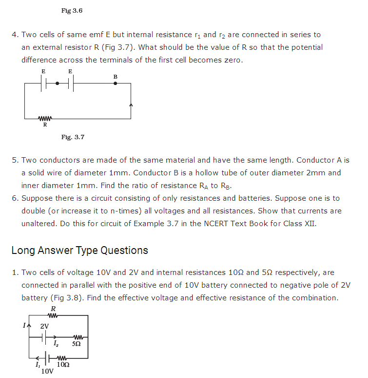 important questions class 12 physics chapter 3 current electricity 3
