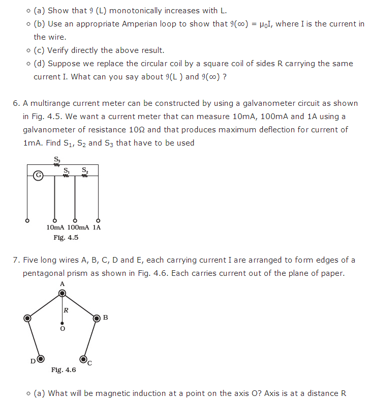 important questions class 12 physics chapter 4 moving charges magnetism 4