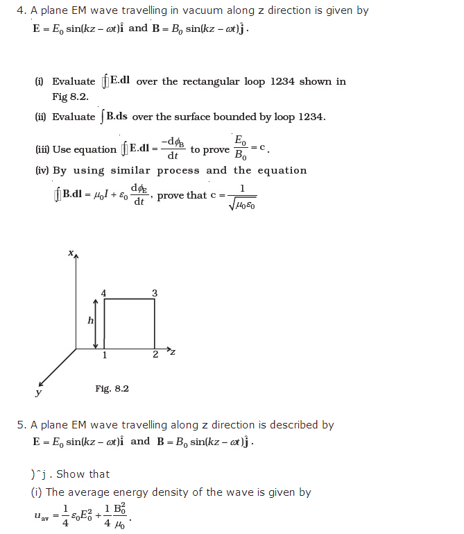 important questions class 12 physics chapter 8 electromagnetic waves 4
