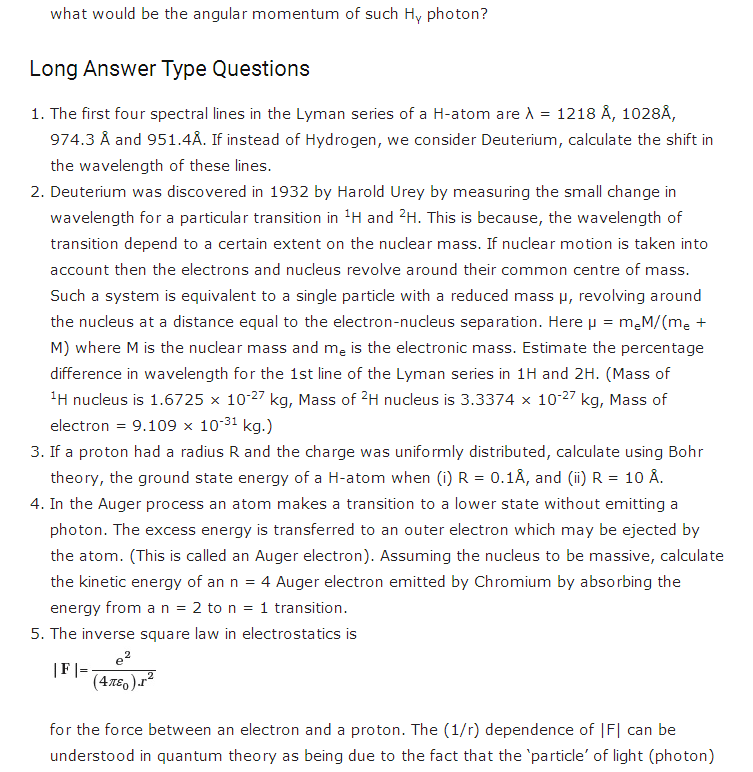 important questions class 12 physics chapter 12 atoms 2