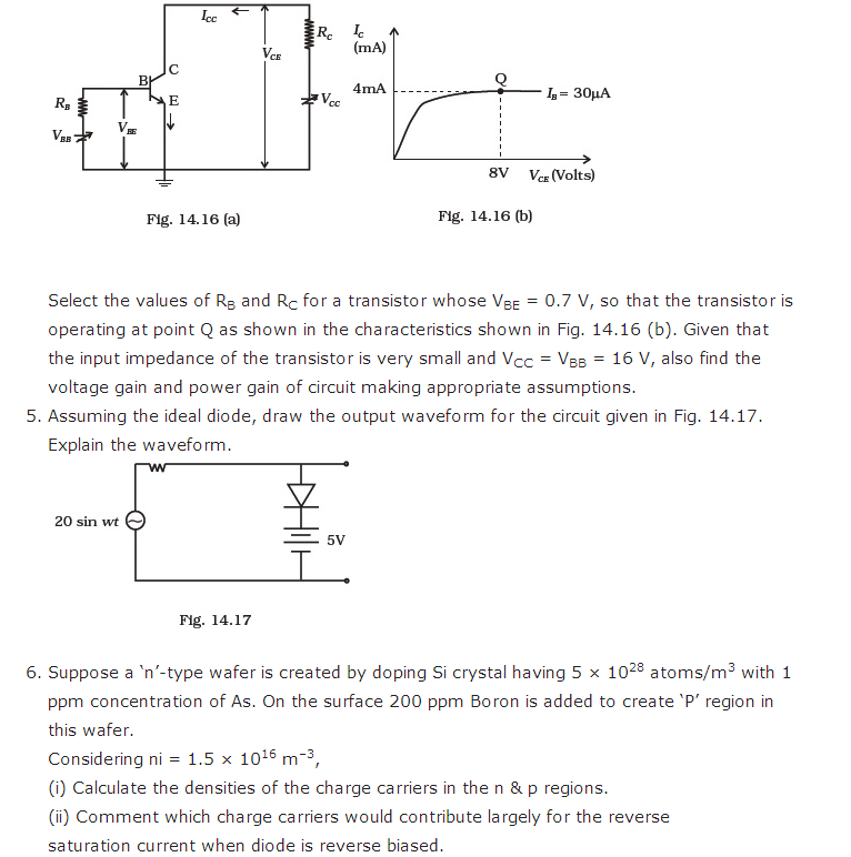 important questions class 12 physics chapter 14 semiconductor electronics materials 5