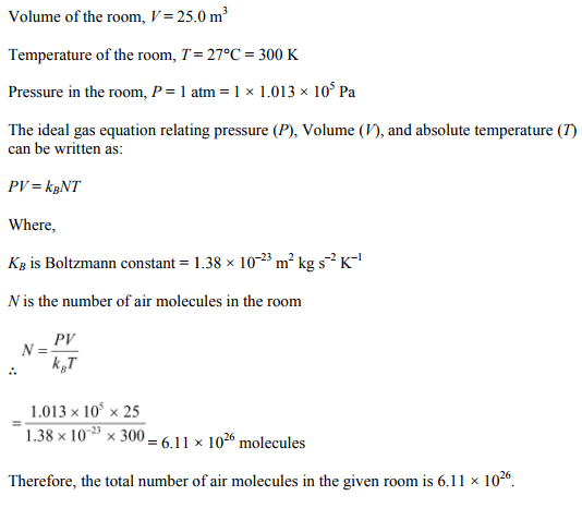 Physics Numericals Class 11 Chapter 13 18