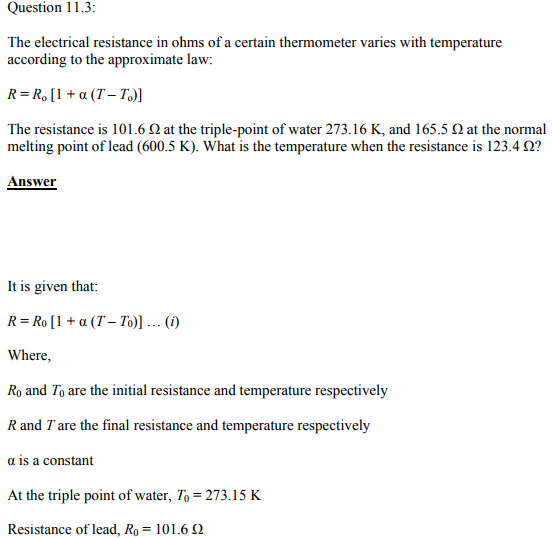 Physics Numericals Class 11 Chapter 11 7