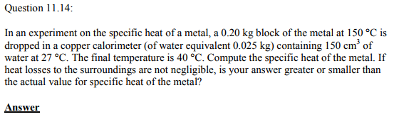 Physics Numericals Class 11 Chapter 11 42