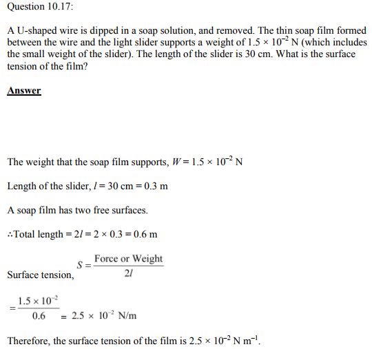 Physics Numericals Class 11 Chapter 10 44