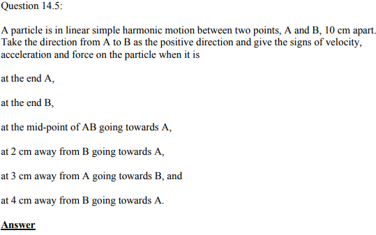 Physics Numericals Class 11 Chapter 14 14