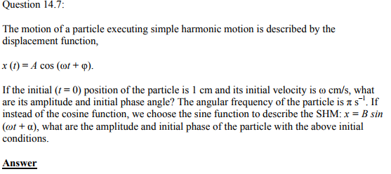 Physics Numericals Class 11 Chapter 14 20
