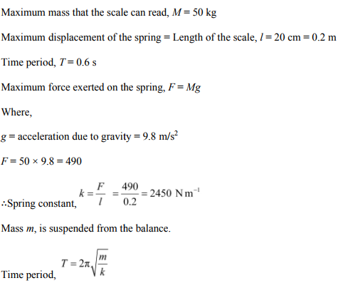 Physics Numericals Class 11 Chapter 14 26