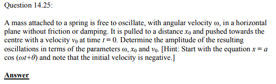 Physics Numericals Class 11 Chapter 14 100