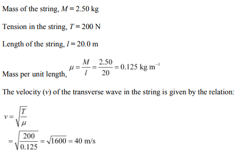 Physics Numericals Class 11 Chapter 15 2