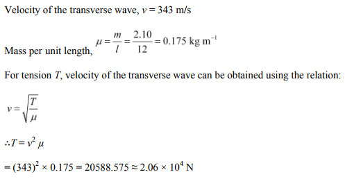 Physics Numericals Class 11 Chapter 15 9