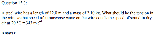 Physics Numericals Class 11 Chapter 15 7