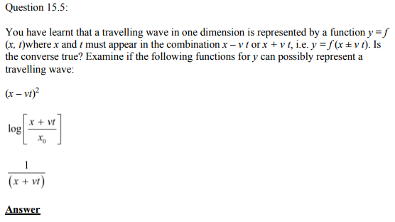 Physics Numericals Class 11 Chapter 15 16