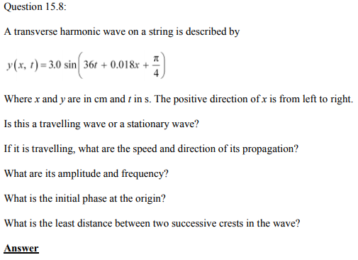 Physics Numericals Class 11 Chapter 15 23