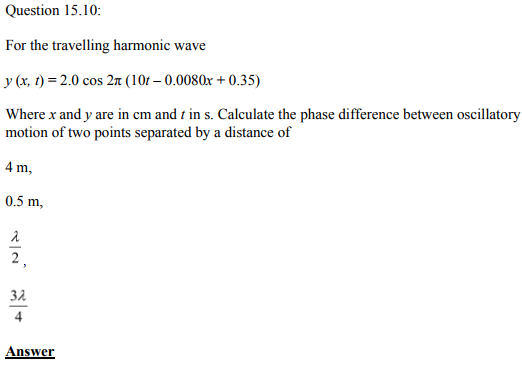 Physics Numericals Class 11 Chapter 15 31