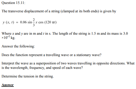 Physics Numericals Class 11 Chapter 15 34