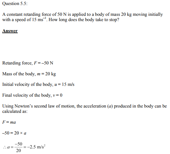 Physics Numericals Class 11 Chapter 5 10