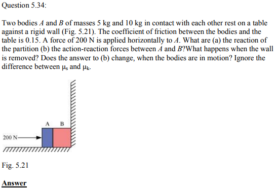 Physics Numericals Class 11 Chapter 5 105