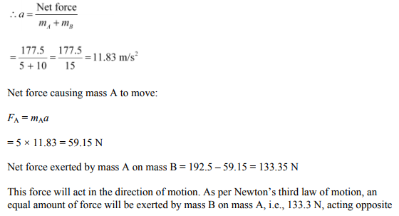 Physics Numericals Class 11 Chapter 5 109