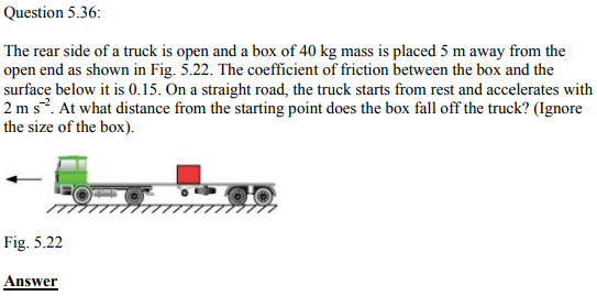Physics Numericals Class 11 Chapter 5 112