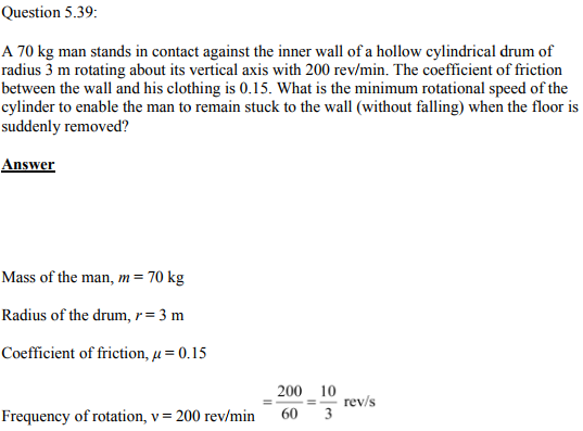 Physics Numericals Class 11 Chapter 5 122