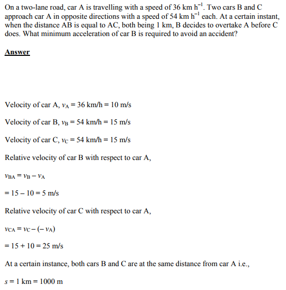 Physics Numericals Class 11 Chapter 3 16